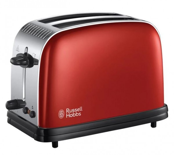 Russell Hobbs 23330 'Colours Plus+' 2 Slice Toaster | Flame Red