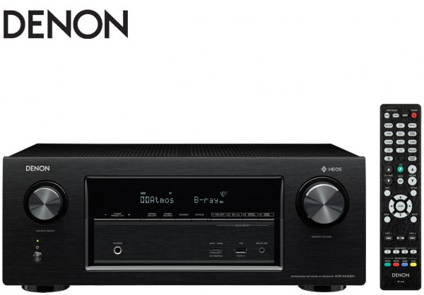 Denon AVR-X3400H 7.2 channel AV Receiver with Dolby Atmos and DTS:X & HEOS technology | Black