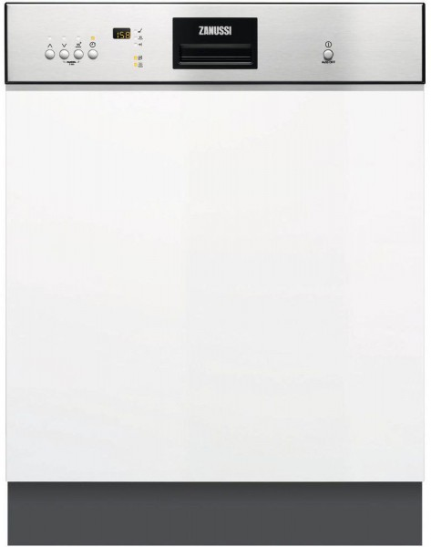 Zanussi ZDI26022XA 13 Place Setting, Semi Integrated Dishwasher | Stainless Steel