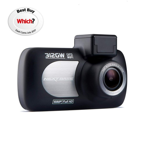 Nextbase 312GW Dash Cam 1080p HD with Wi-Fi & GPS | Black