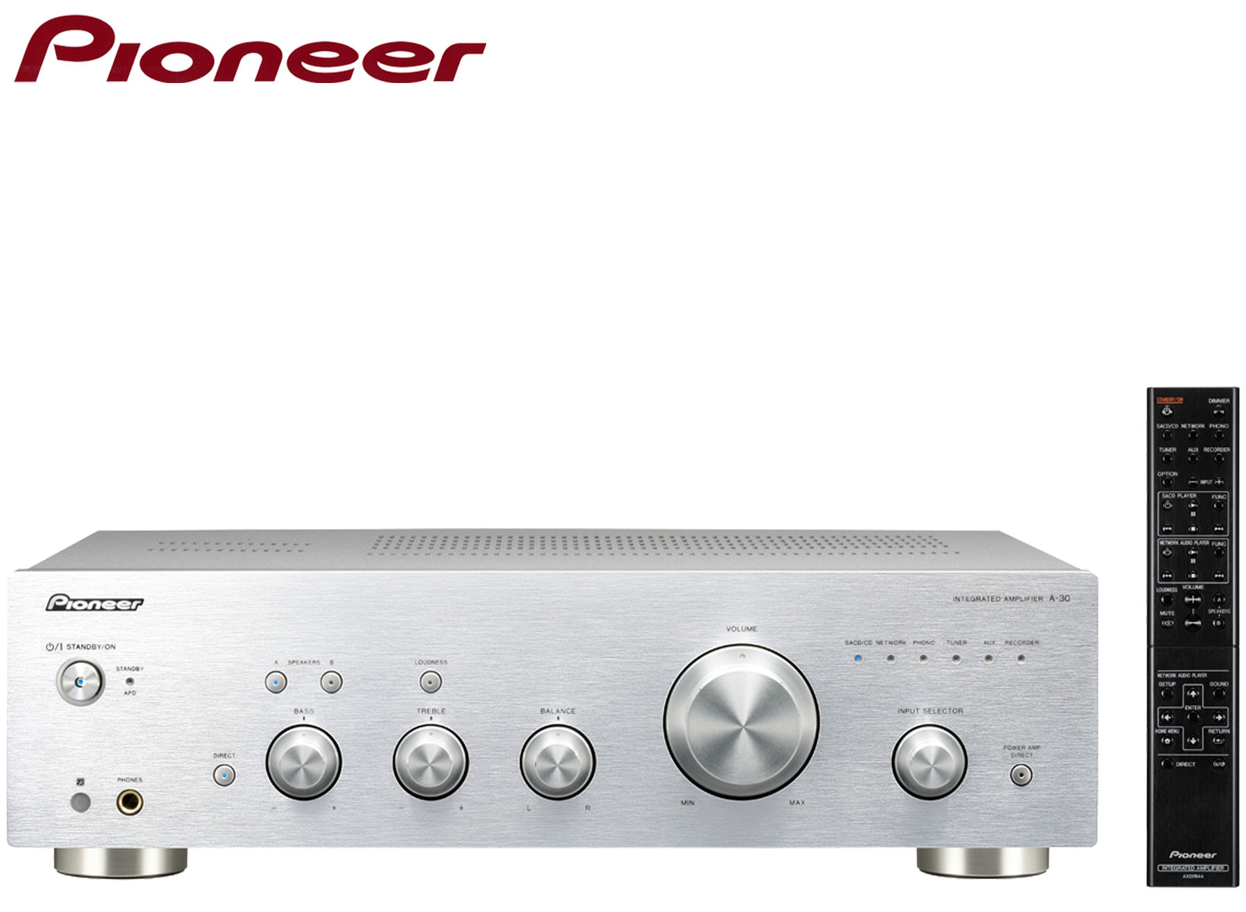 Pioneer A-30 Stereo Amplifier with Direct Energy Design | Silver