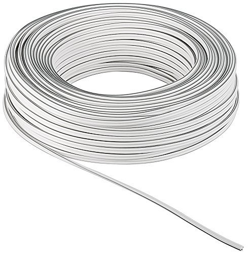 Goobay 67747 10 Metre Roll Speaker Cable | White