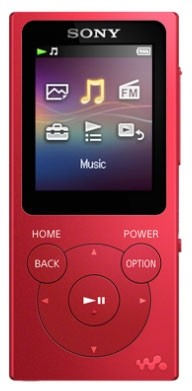 Sony NW-E394 8GB MP3 Player in colourful design with rich Bass sound | Red