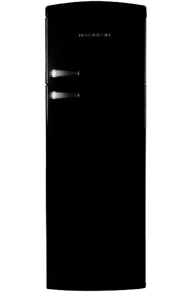 Nordmende RET347BLA+ Freestanding Retro Fridge Freezer | Black