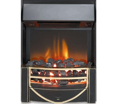 Burley 539-R 'Swinstead' Electric Fire Inset with Remote Control | Brass