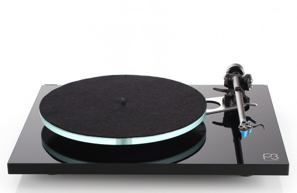 Rega Planar 3 Turntable & Elys 2 Cartridge Factory Fitted | Gloss Black