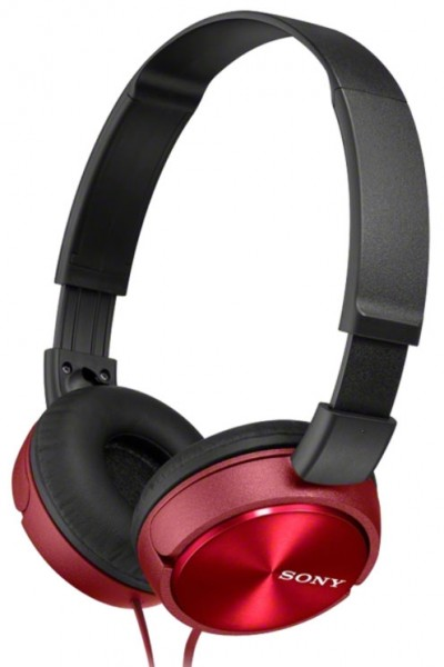Sony MDR-ZX310R Headphones with lightweight folding design | Red