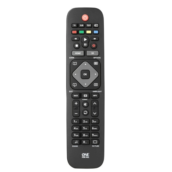One-For-All URC1913 Philips Replacement TV Remote Control