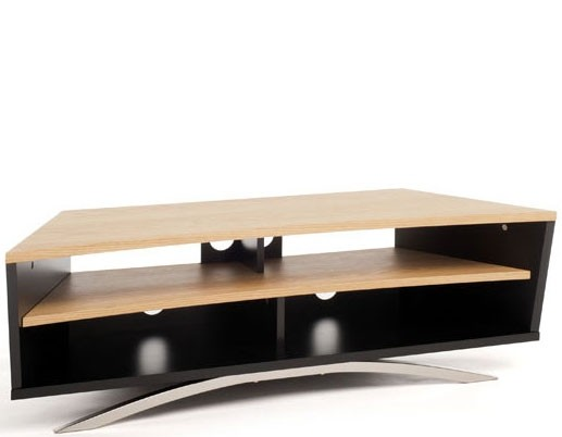 TechLink PR130SBLO 'Prisma' Range TV Stand for Screens up to 65' | Black & Light Oak