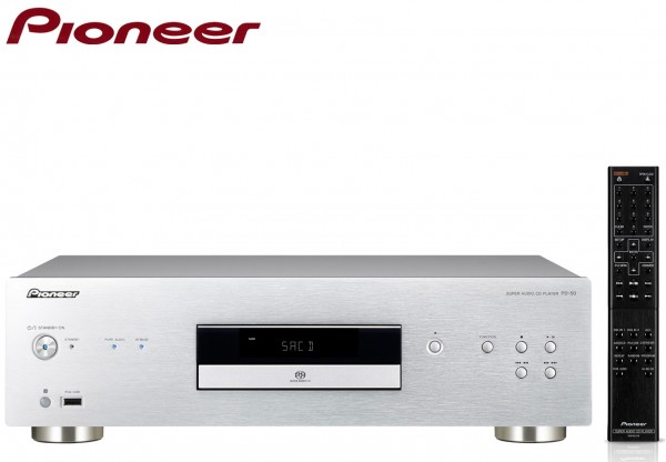 Pioneer PD-50 Super Audio CD Player with Rigid Under Base | Silver