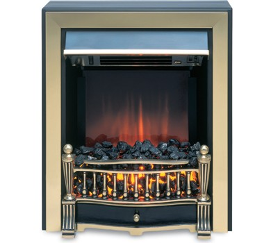 Burley 540-R 'Empingham' Traditional Electric Fire with Remote Control | Brass