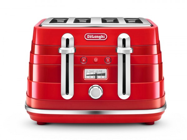 Avvolta 4 Slice Toaster in Red