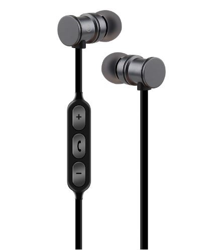 AV:Link 100542 Magnetic Wireless Bluetooth ® Earphones | Metallic Grey
