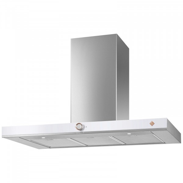 De Dietrich DHB7952W 90cm Decorative Wall Extractor Hood | Pure White