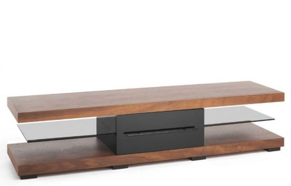 TechLink ECI50W 'Echo' Range TV Stand for Screens up to 75' | Walnut Veneer