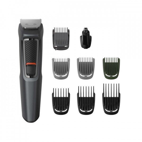 Philips MG3747 Series 3000 9-in-1 Multi Grooming Kit for Beard, Hair & Body with Nose Trimmer Attach