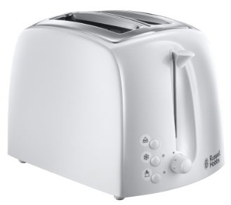 'Textures' Collection 2 Slice Toaster in White