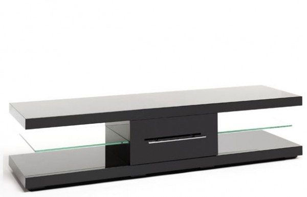 TechLink ECI50B 'Echo' Range TV Stand for Screens up to 75' | Piano Black High Gloss