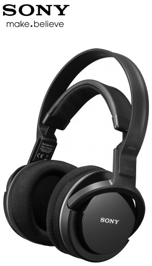 Sony MDR-RF855RK RF Wireless Rechargeable Headphones with Charging Dock