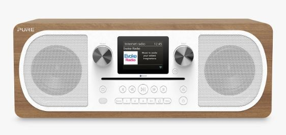 Pure Evoke C-F6 Stereo Music System with Internet Radio & Bluetooth | Walnut