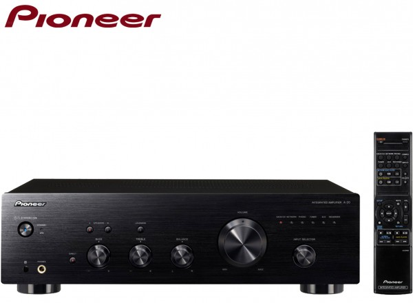 Pioneer A-20 Stereo Amplifier with Direct Energy Design and Aluminium Panels | Black