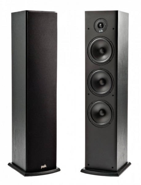 Polk T50 Home Theater and Music Floor Standing Tower Speakers | Black