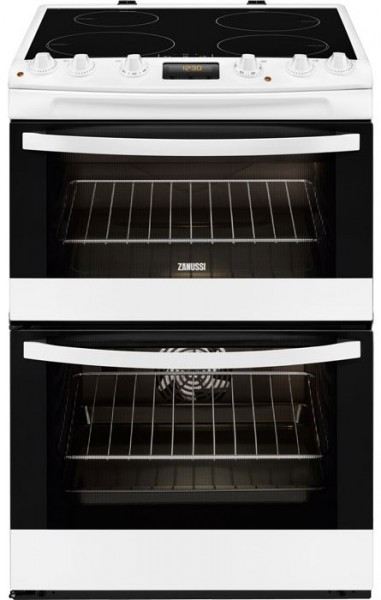 Zanussi ZCI68300WA 60cm Wide Double Cavity Cooker with Induction Hob | White