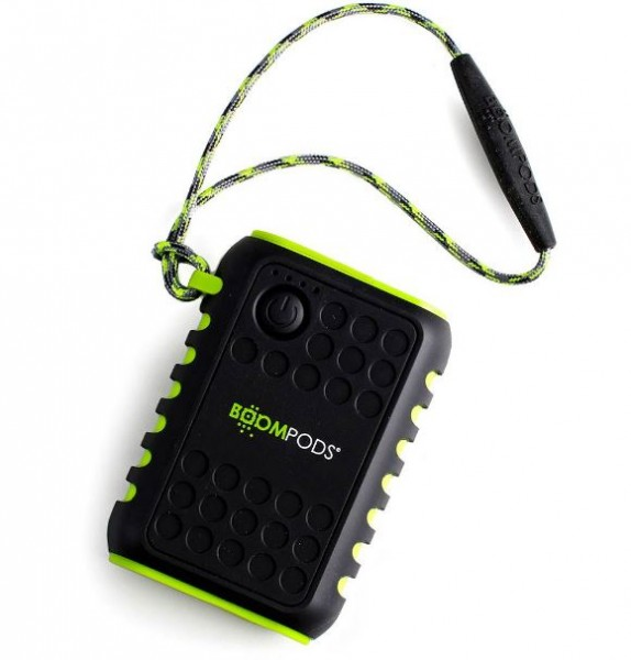 Powerboom PBX 7800mAh Water Resistant (IPX6) Power Bank with Torch | Black/Green