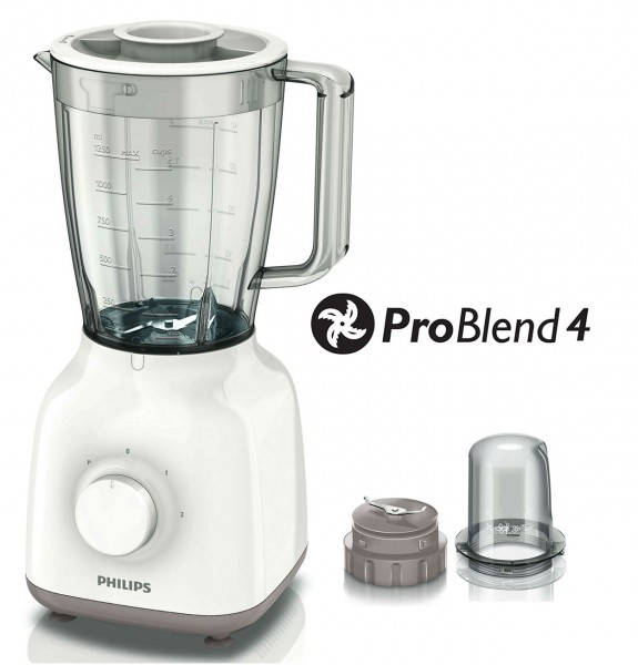 Philips HR2102 'Daily Collection' 400 Watt Blender 1.5 Litre | White