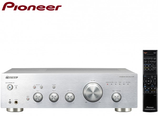 Pioneer A-20 Stereo Amplifier with Direct Energy Design and Aluminium Panels | Silver