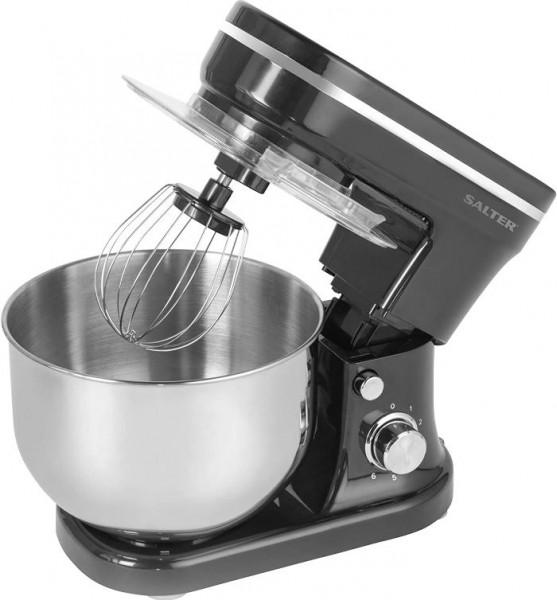 Salter 1200 Watt Stand Mixer with 6 Speed Settings | Black