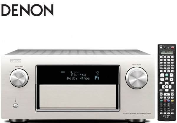 Denon AVR-X7200WA 9x 210W Full 4K Ultra HD Network AV Receiver with Wi-Fi & Bluetooth | Silver