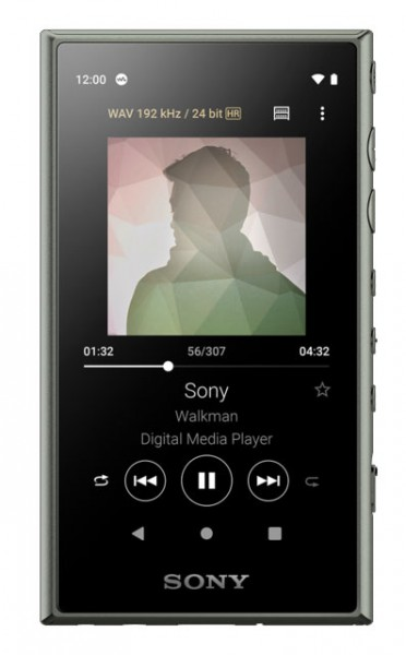 Sony NW-A105 A100 'A' Series Android Compatible Walkman®, High-Resolution Audio MP3 Player | Green