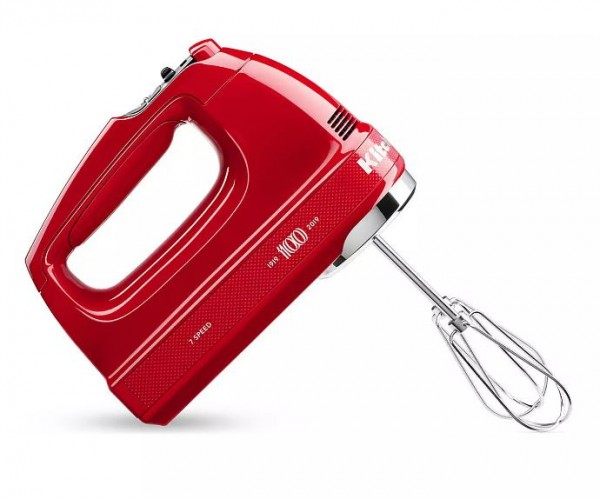 KitchenAid 5KHM7210HBSD Limited Edition Queen of Hearts 7-Speed Hand Mixer | Red