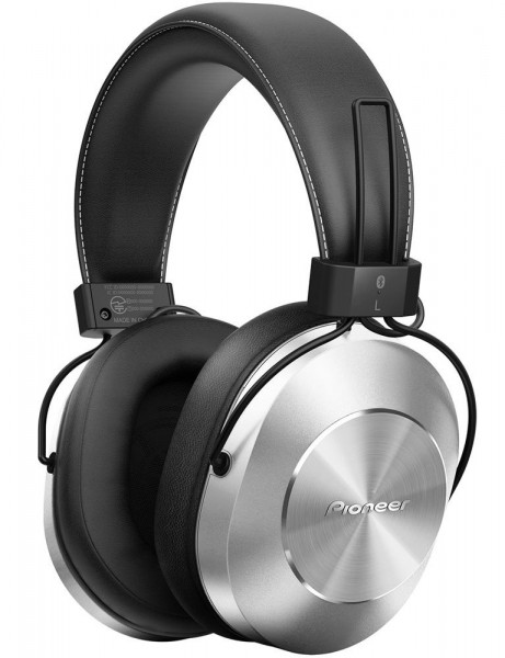 SE-MS7BT Hi-Res Over-Ear Headphones with Bluetooth and In-Line Microphone | Silver