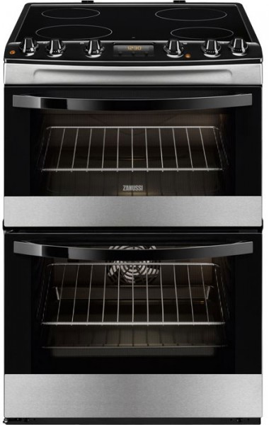 Zanussi ZCV68300XA 60cm Wide Electric Cooker with Ceramic Glass Hob | Stainless Steel