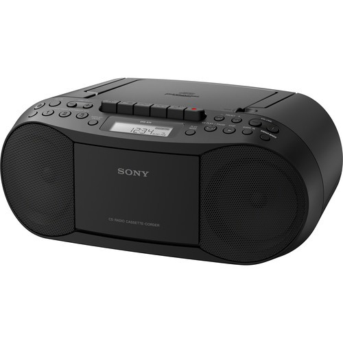 Sony CFD-S70 Portable CD/Cassette Boombox | Black