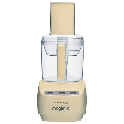 Le Mini Plus Food Processor with BlenderMix in Cream