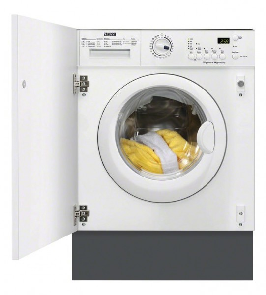 Zanussi ZWT71201WA 7Kg 1200 Spin Washer Dryer | White