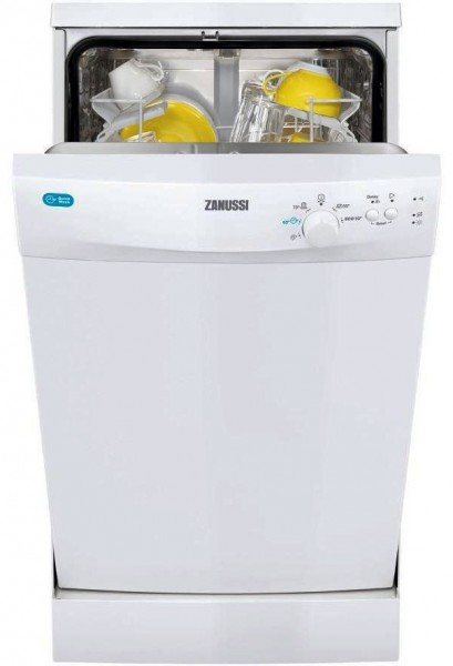 Zanussi ZDS12001WA Slimline 9 Place Setting Freestanding Dishwasher | White