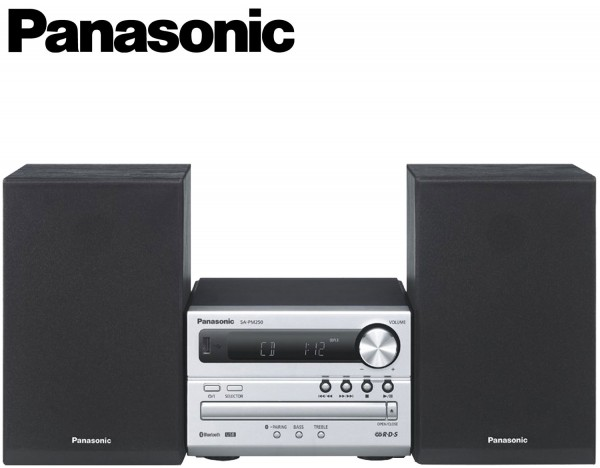 Panasonic SC-PM250 CD Micro System with versatile audio technology and Bluetooth