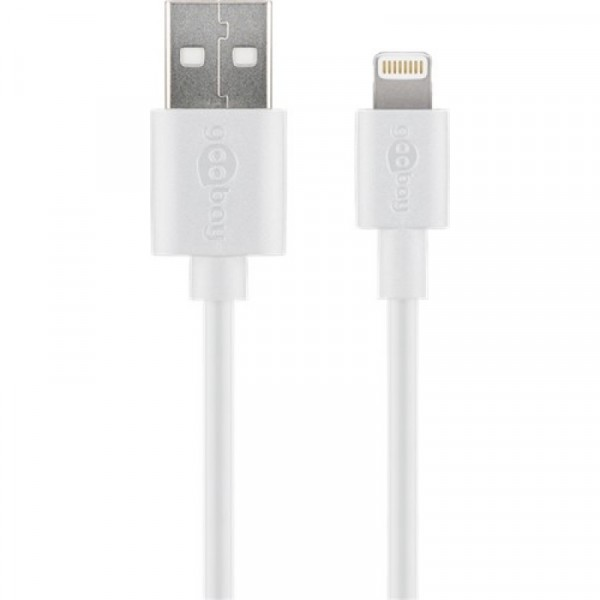 Goobay 43597 Apple Lightning Male to USB Male Charging and Sync Cable 2m