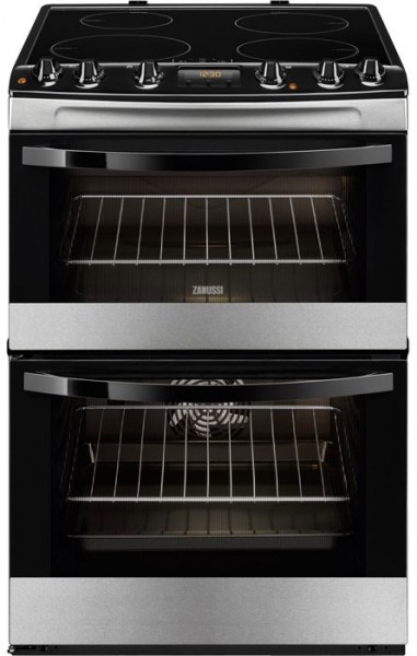 Zanussi ZCI68300XA 60cm Wide Double Cavity Cooker with Induction Hob | Stainless Steel