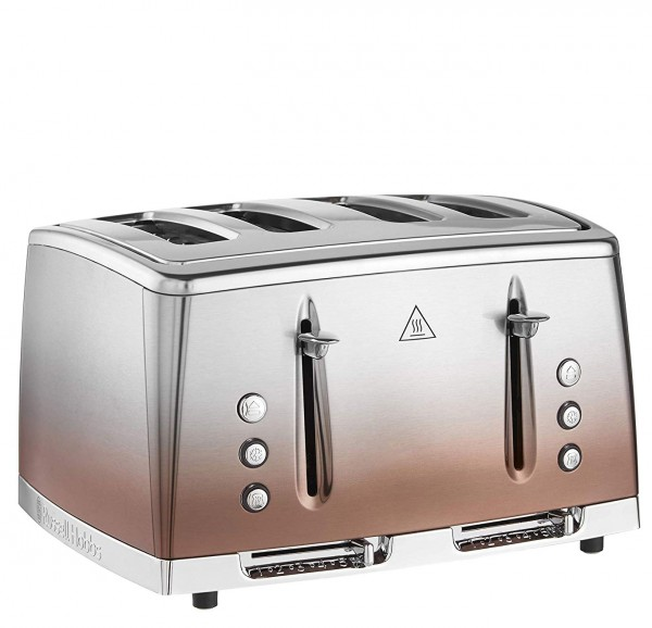 Russell Hobbs 25143 'Eclipse' 4 Slice Toaster | Copper Sunset