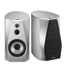Sony SS-HA1 Hi-Resolution Audio Stereo Book Shelf Speakers Pair | Silver