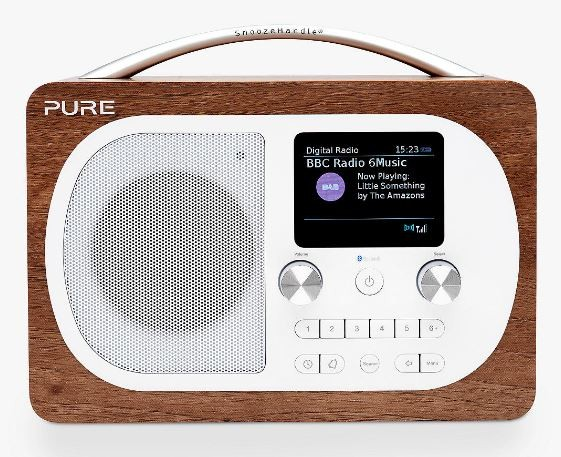 Pure Evoke H4 FM/DAB Radio with Bluetooth | Walnut