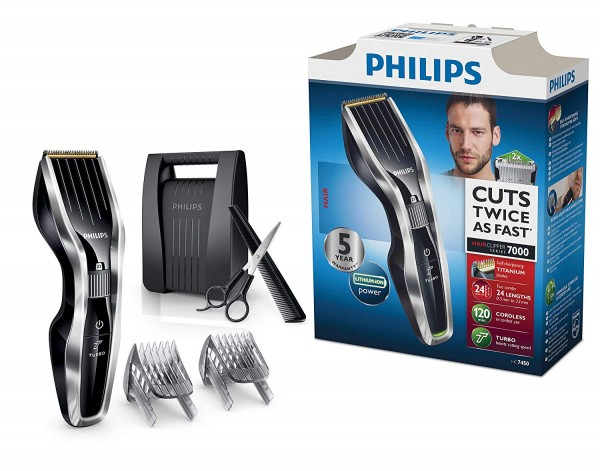 Philips HC7450 Hair Clipper with DualCut Series 7000