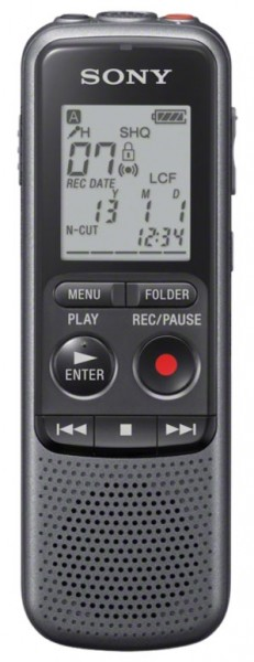 Sony ICD-PX240 Digital Voice Recorder with 4GB storage MP3 recording & playback and 300mW speaker