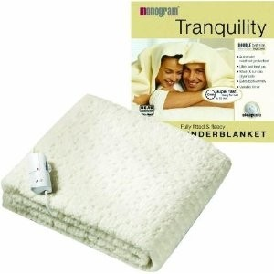 Double Size Single Control Fully Fitted Fleecy Washable Tranquility Heated Underblanket
