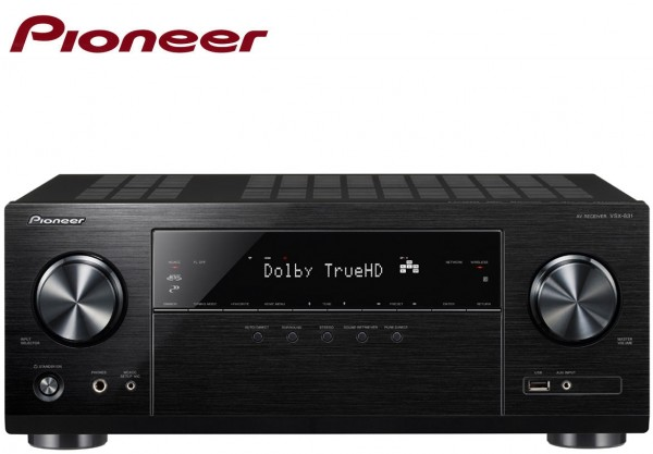 Pioneer VSX-831 5.1 Channel AV Receiver with 5x130 Watt 4K 6 HDMI ports WiFI & Bluetooth | Black